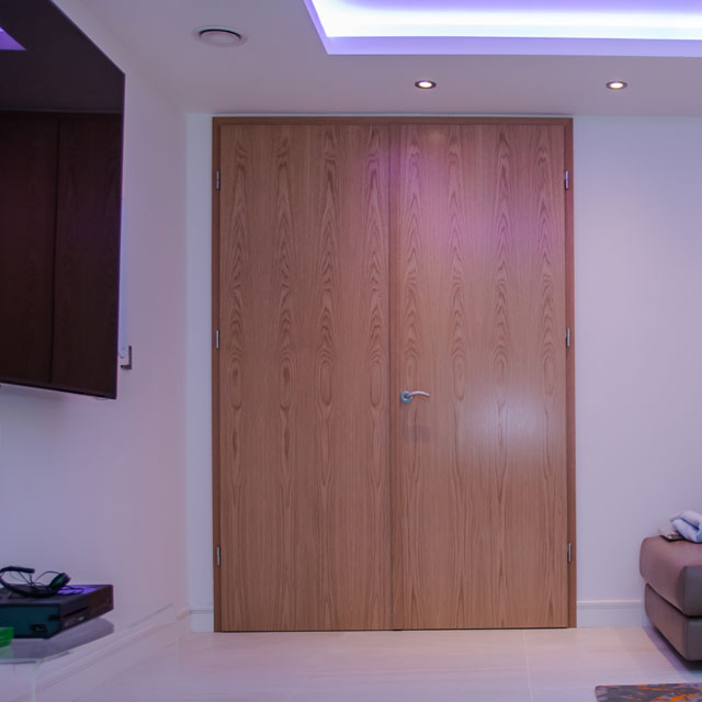 internal solid oak double doors