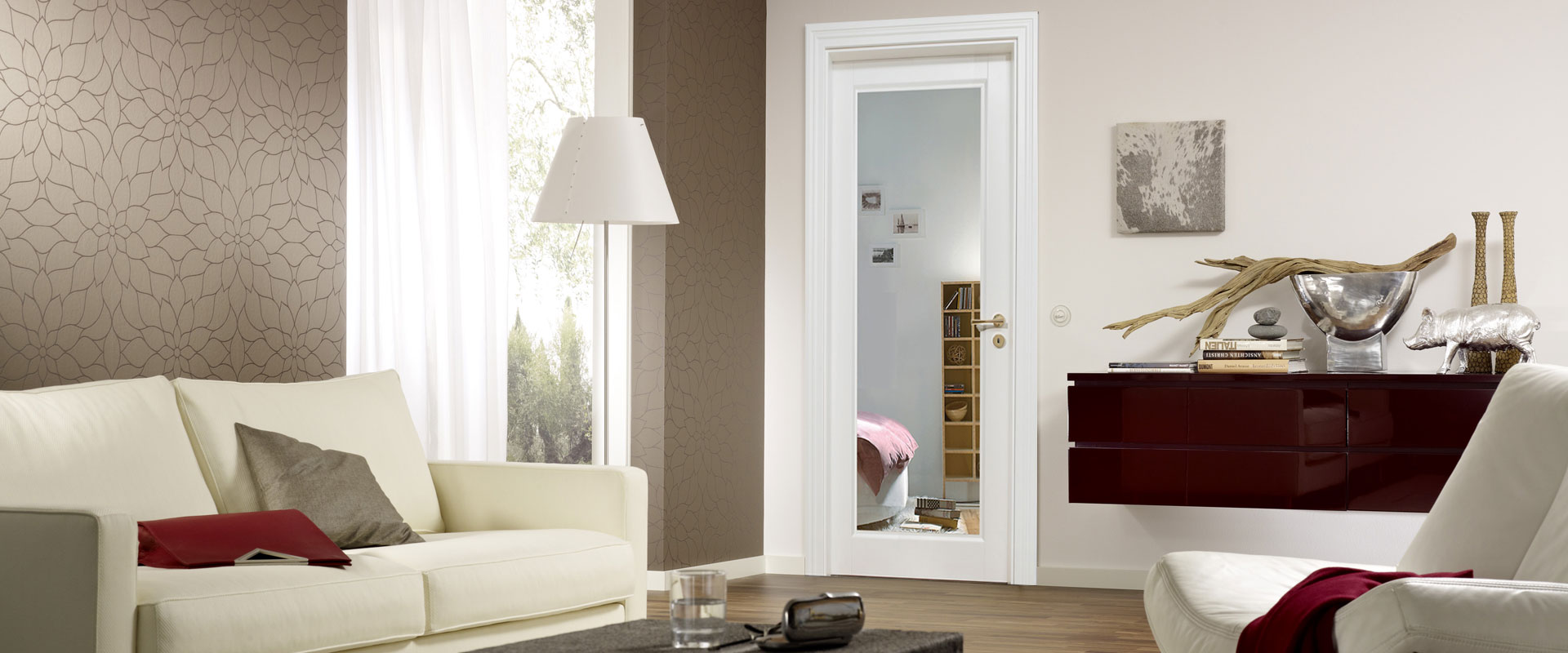 modern internal doors with glass