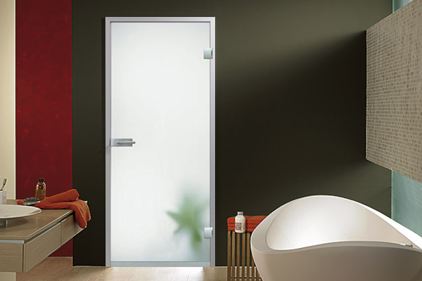 frosted glass waterproof door