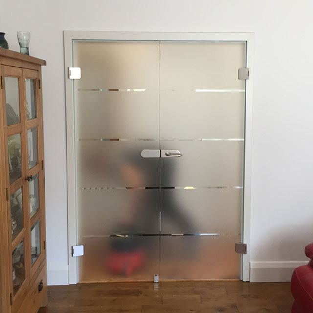pre hung french doors with modern design