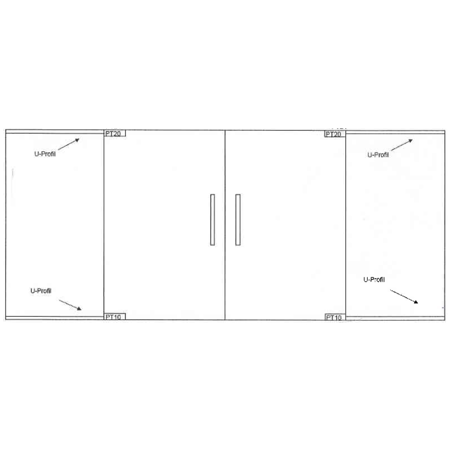 swing glass double doors with two side panels