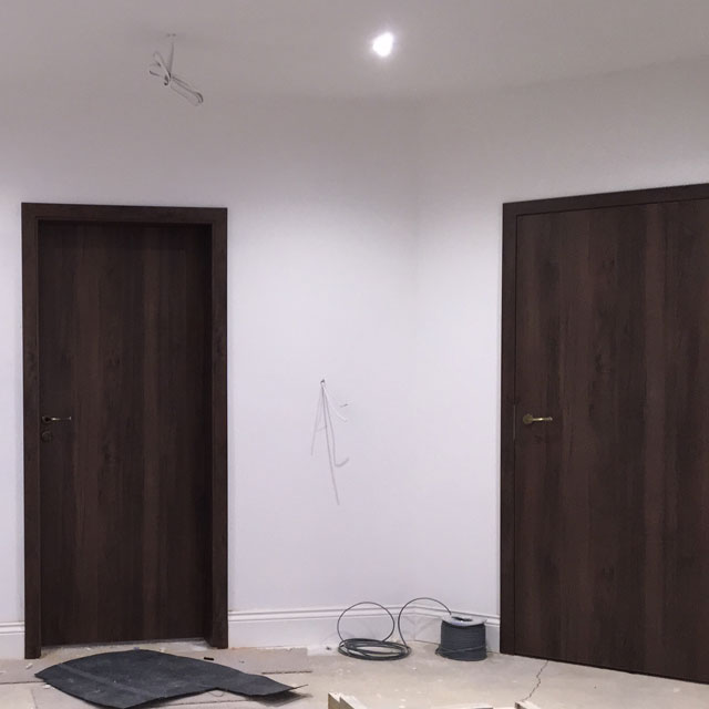walnut bedroom doors