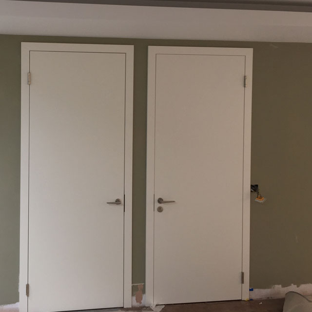 white bedroom doors