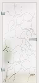 Fresco design on frosted glass