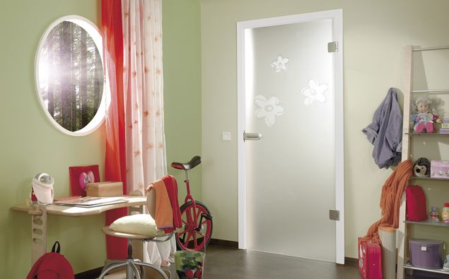 Fiora Grooved Glass Door Design
