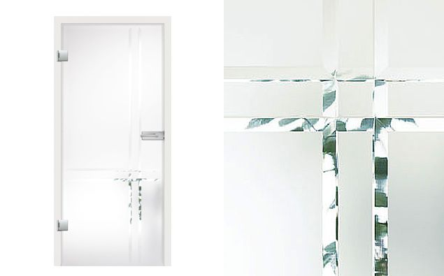 Linea Grooved Glass Door Design