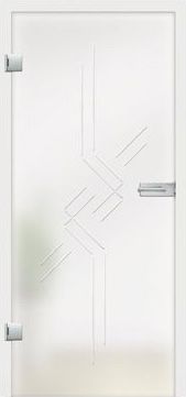 Romana grooved design on frosted glass