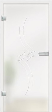 Romantica grooved design on frosted glass