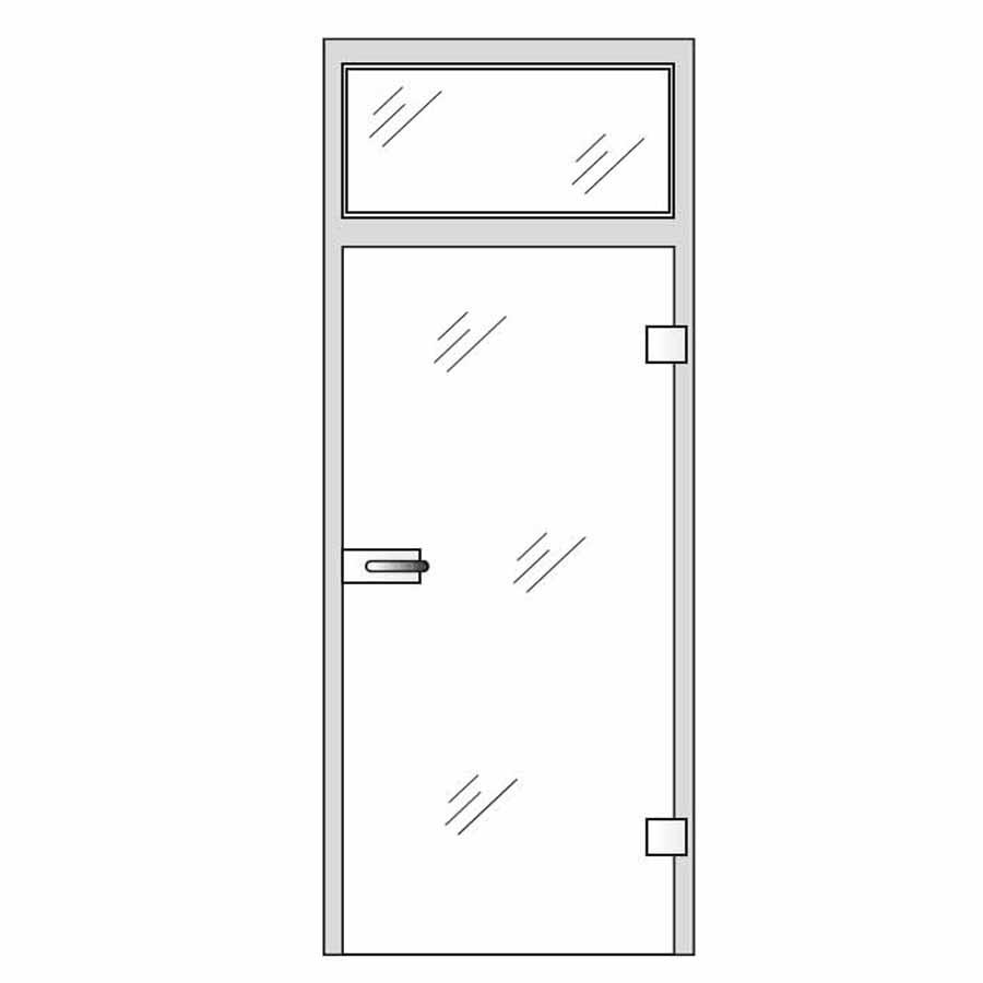 glass hinge doors bespoke