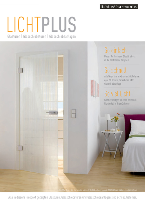 Glass and sliding doors - Licht plus