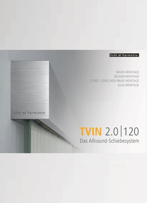 TVIN 2.0 sliding system catalogue