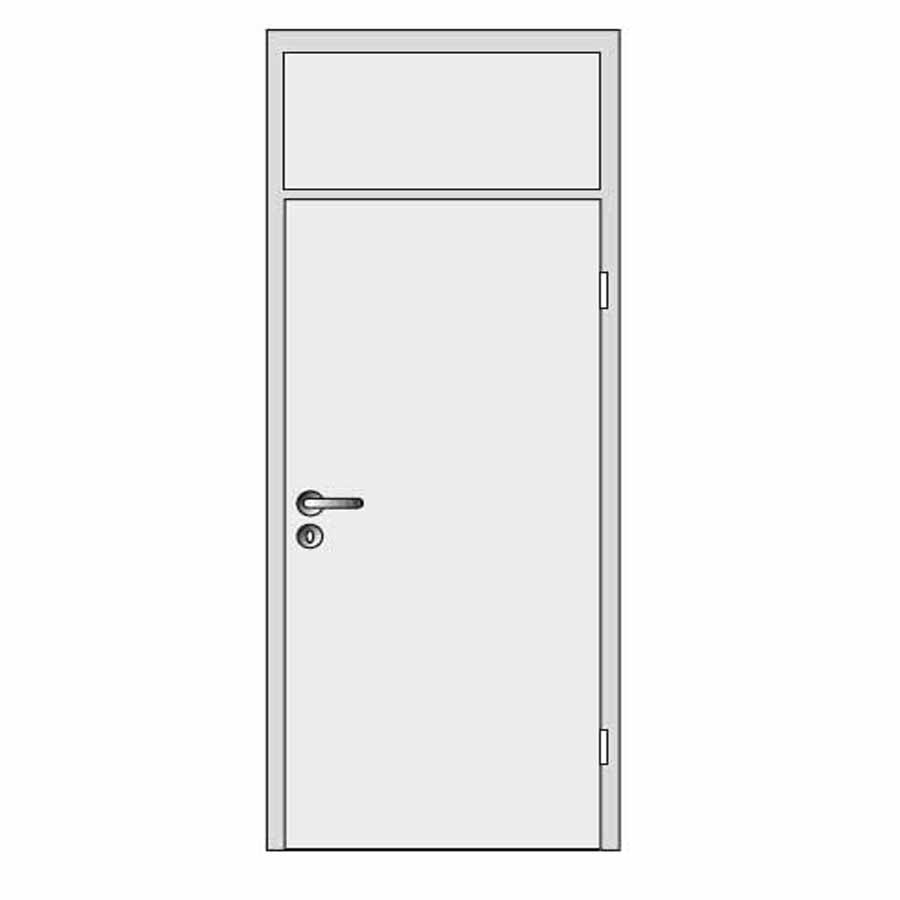 Single door with top panel