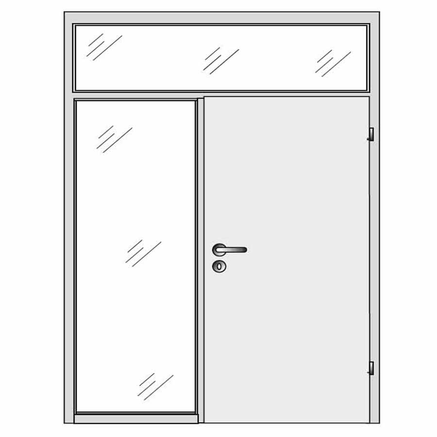 single door with top and side panel