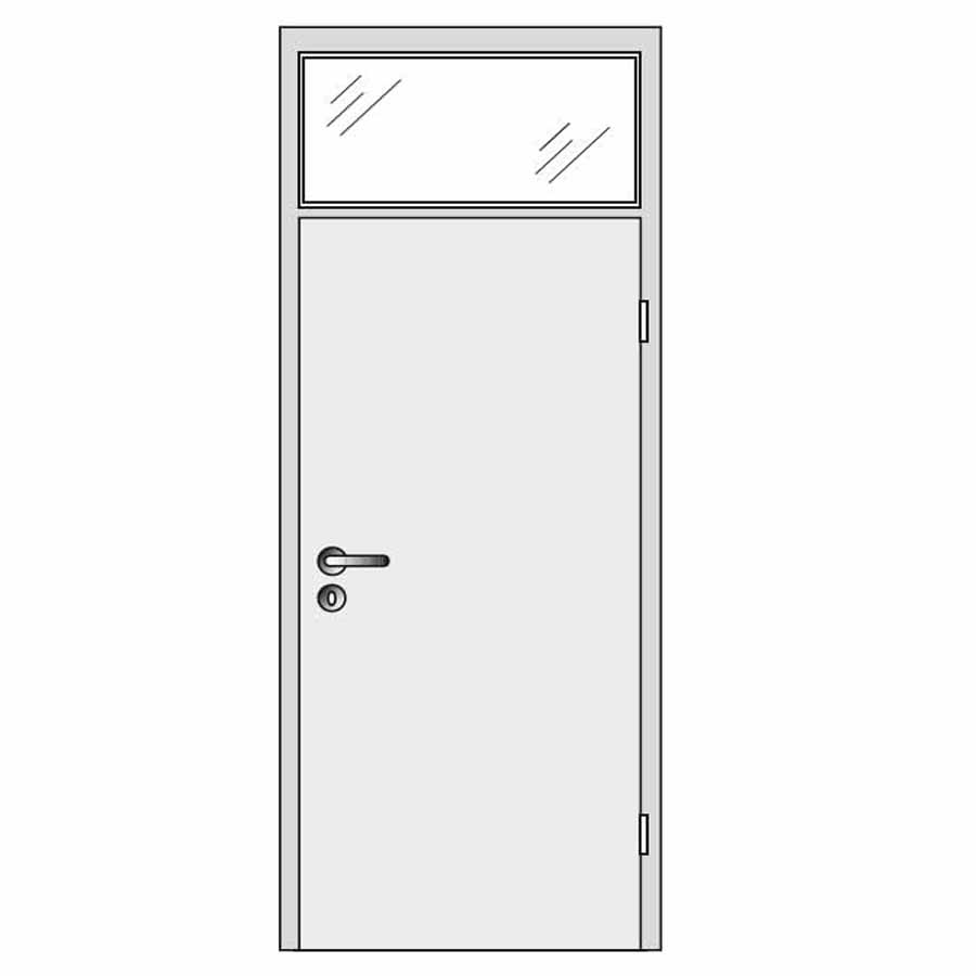 single door with top glass panel