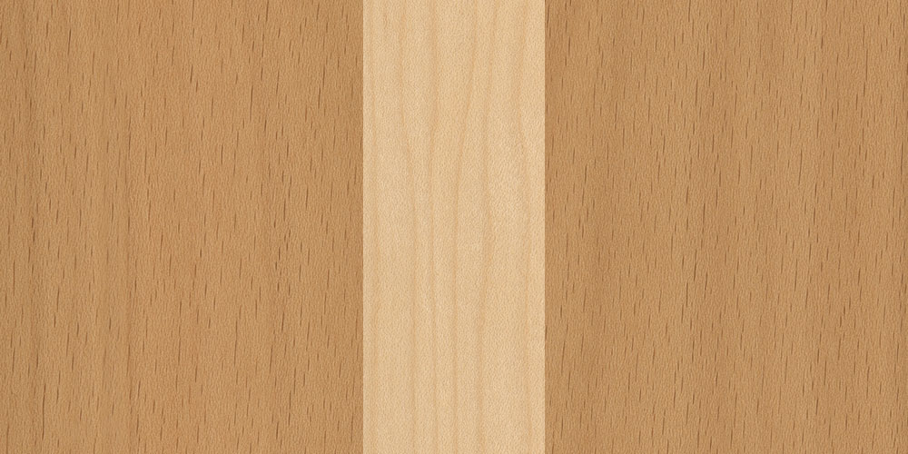 Beech maple combination real wood veneer sample