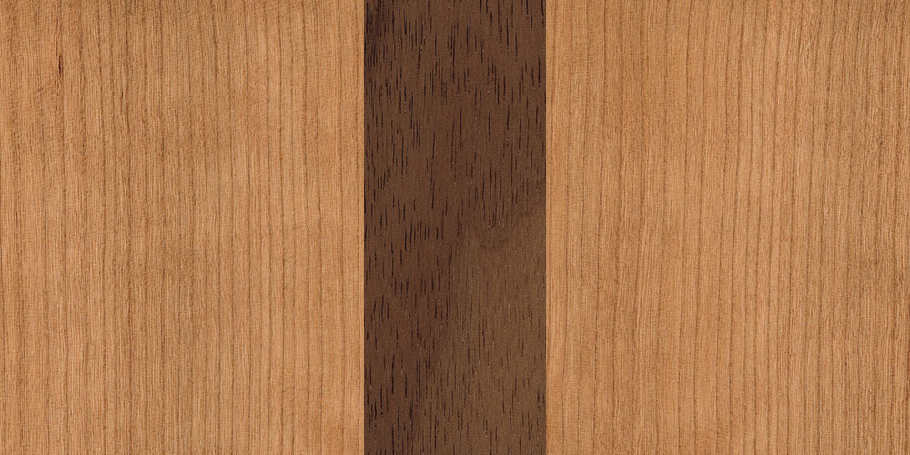 Cherry walnut combination real wood veneer sample