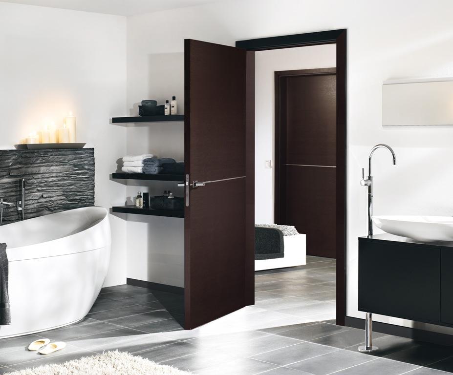 Dark Oak Door : Solid oak doors l dark chocolate veneer finish
