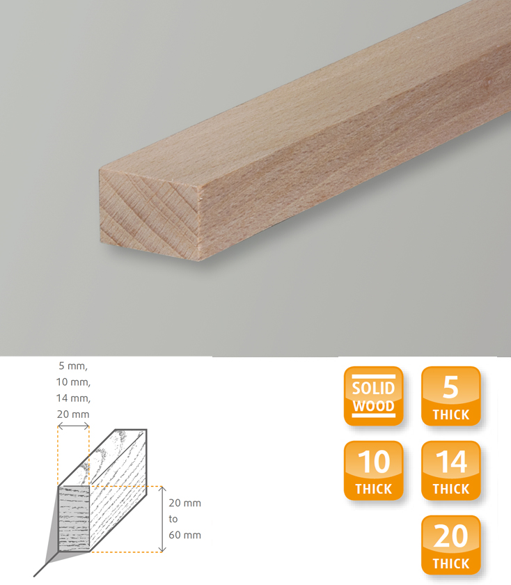 Square Edge Hardwood Beech Short