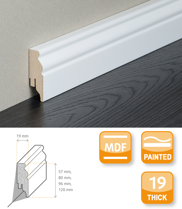 Berlin MDF Painted Skirting