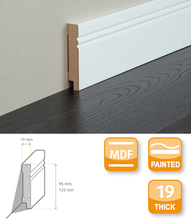 Avantgarde MDF Painted Skirting