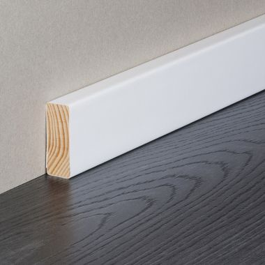 Square Edge Solid Timber Wrapped Skirting