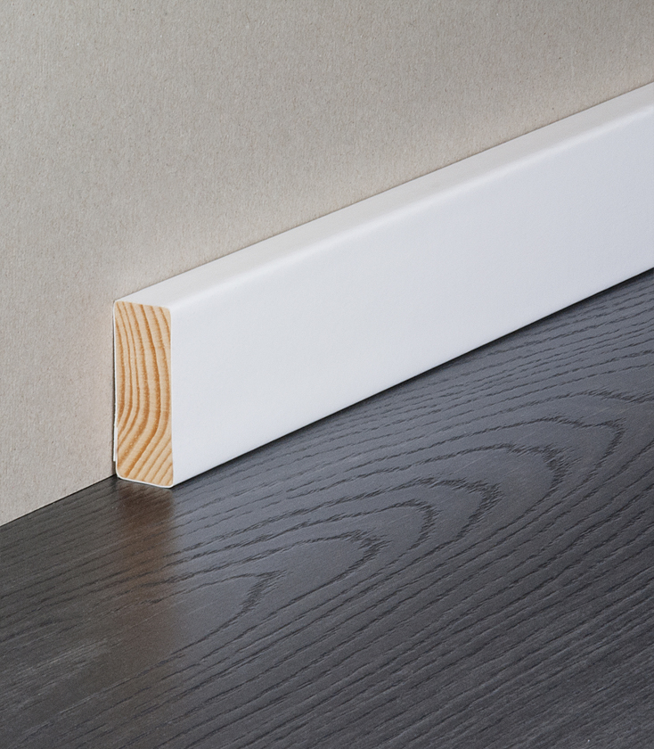 Square Edge Primed Skirting Boards Modern White Solid