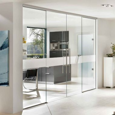 Aero Glass Door Design - Modern Frosted Glass Interior Doors