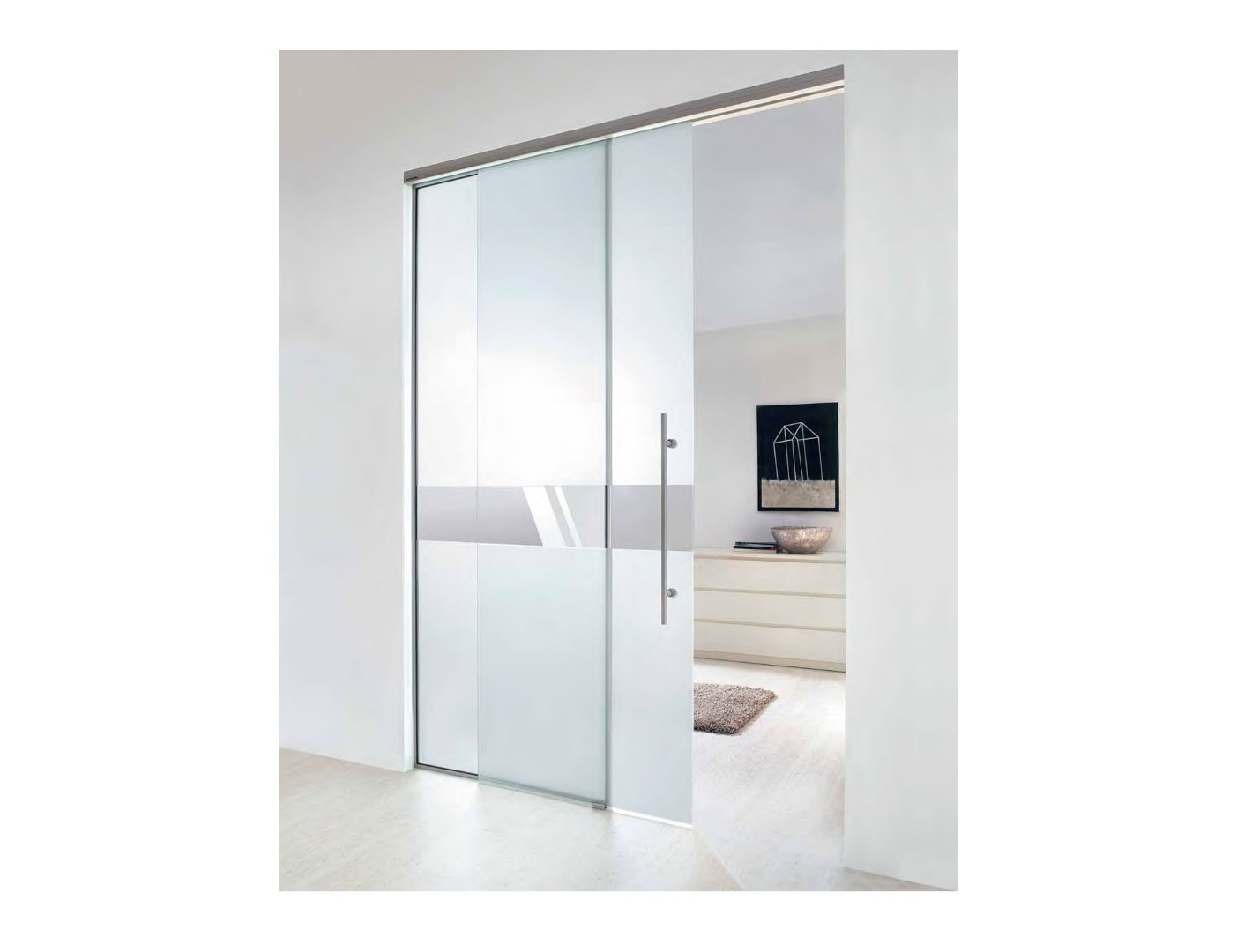 Aero Glass Doors Partition Walls Modern Frosted Glass Interior Doors