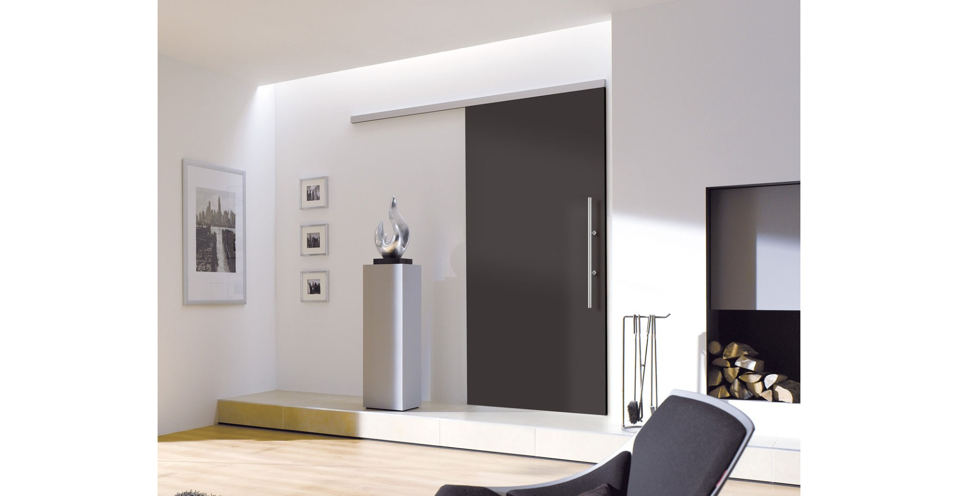 Sliding Black Doors
