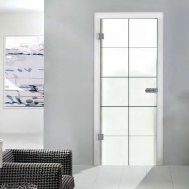 Cassini Black VSG Laminate Glass Door Design - Made to Measure Door