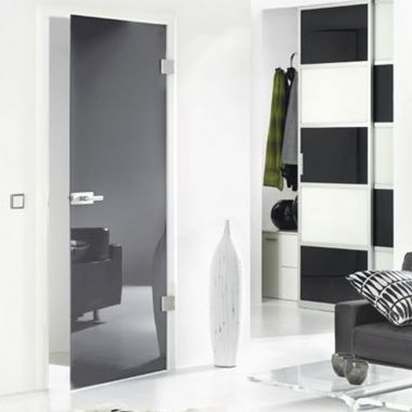 Grey VSG Laminate Glass Door Design - Frameless Glass Door