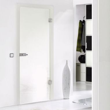 White VSG Laminate Glass Door Design - Interior Glass Doors