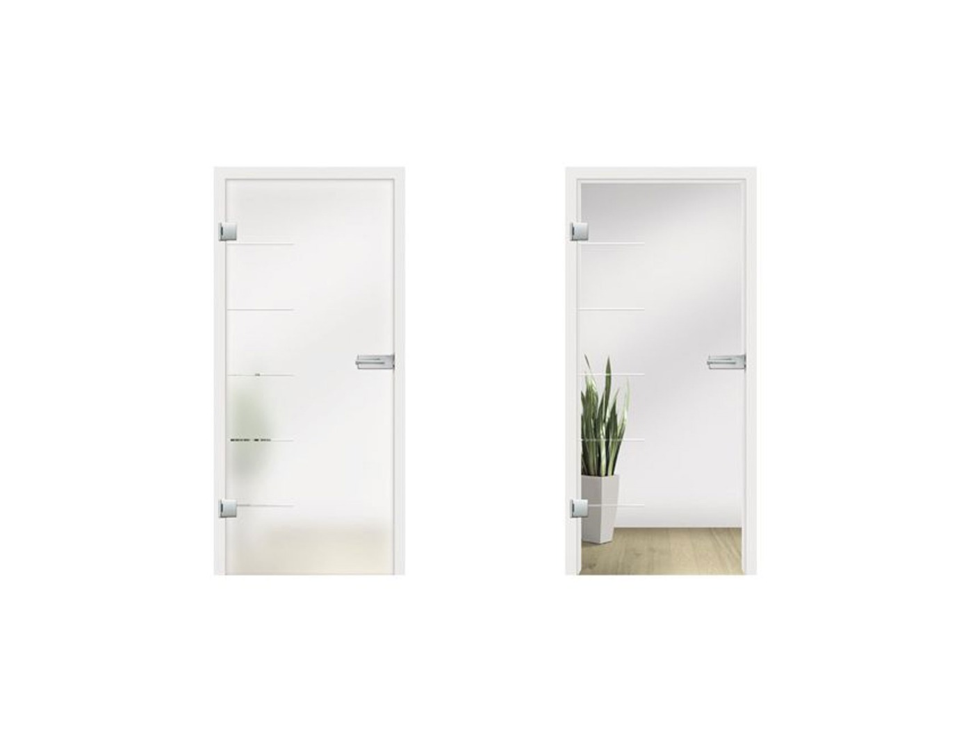 Cinque Type 845 Grooved Glass Door Design - Internal Glass Door