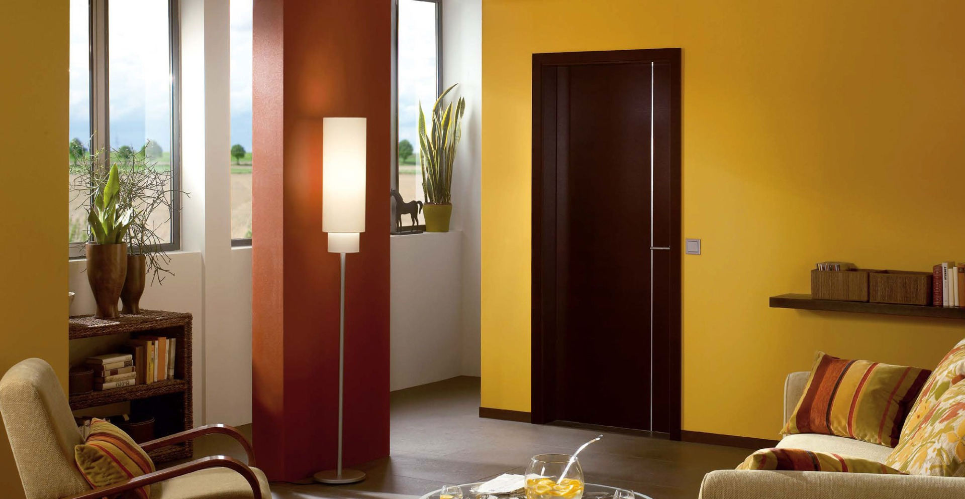 Solid Oak Doors  - Dark Oak with Chocolate Veneer Finish  - Solid Oak Internal