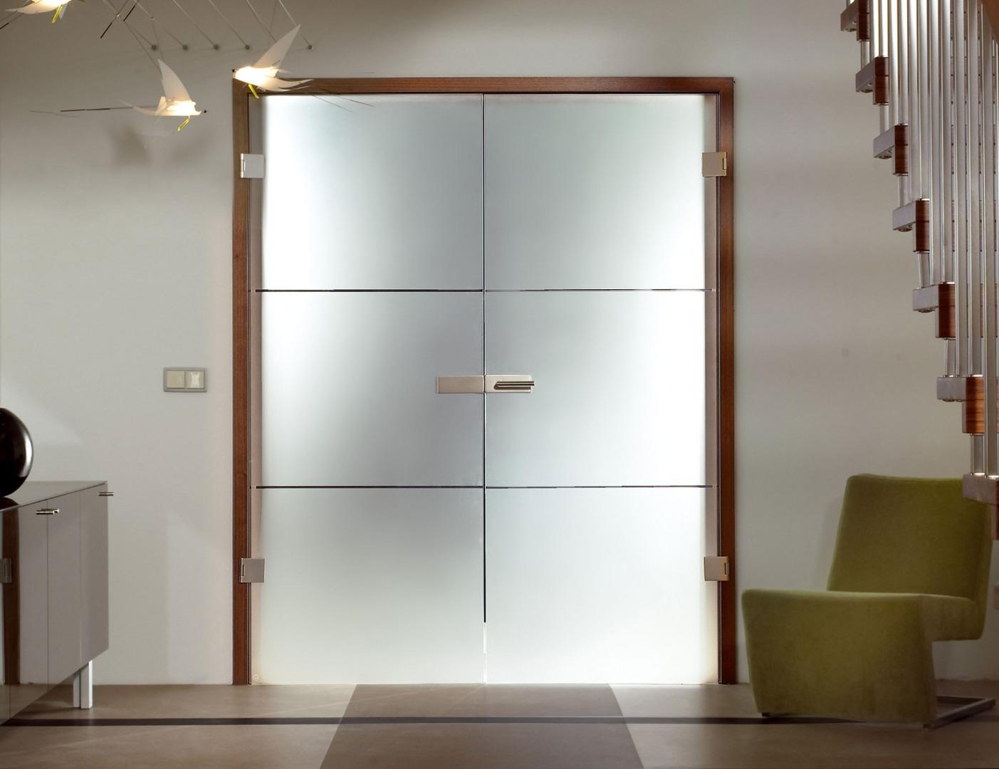 Double Glass Doors Internal Sliding