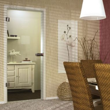 Finesse Grooved Glass Door Design - Interior Glass Doors