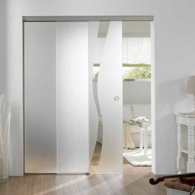 Wave Type 8 Glass Door Design - Room Dividers Design