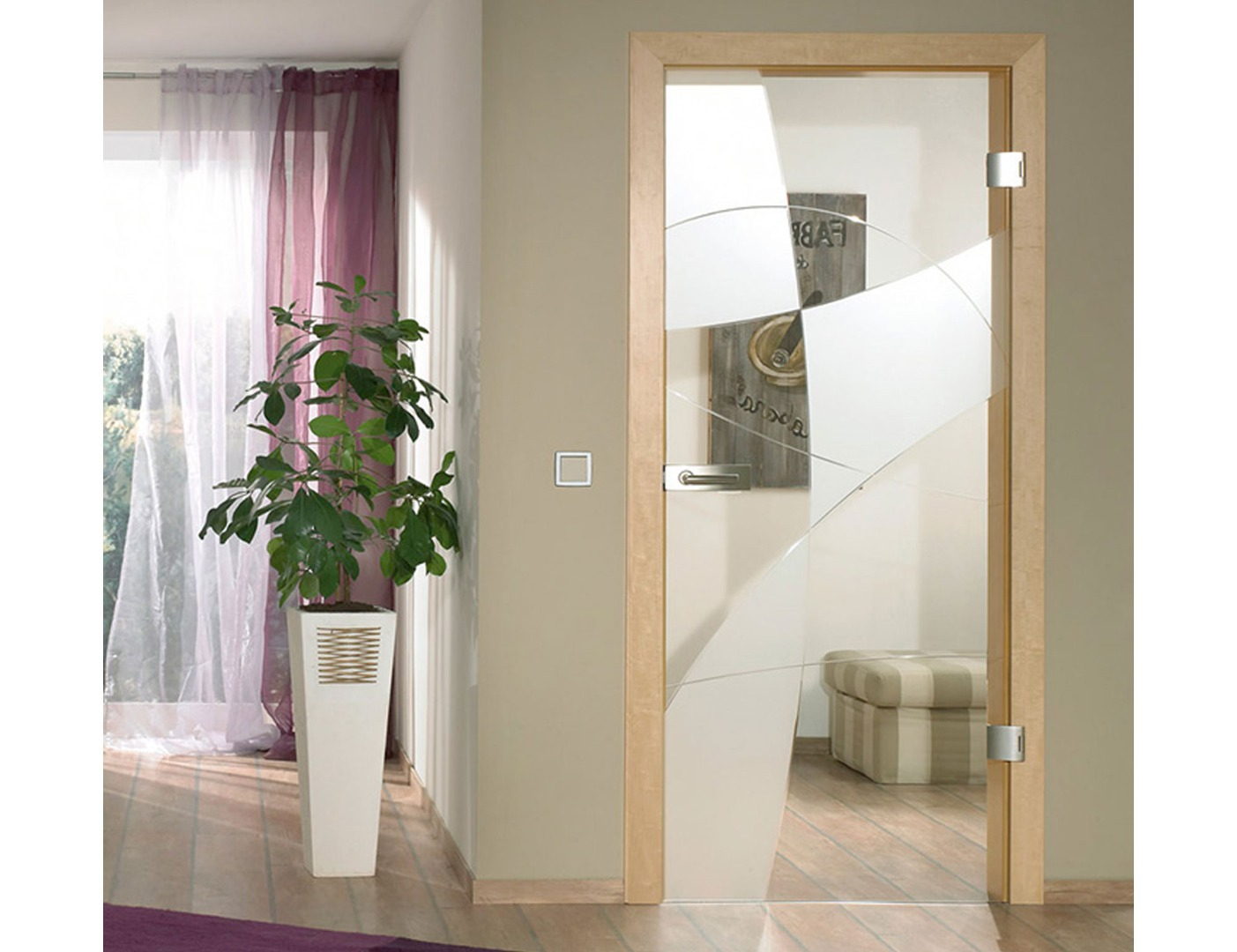 Nubia Grooved Glass Door Design - Internal Sliding Glass Doors