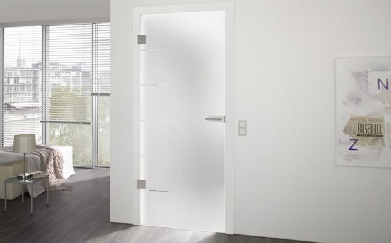 cinque type 845 grooved glass door design
