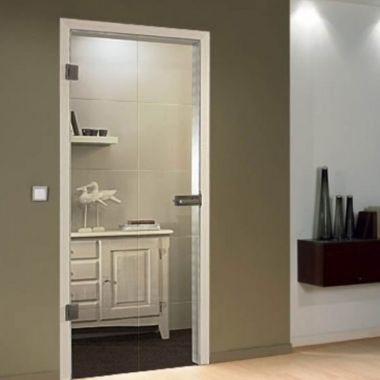 Cassini Grooved Glass Door Design -  Interior Glass Doors