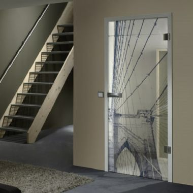 Bridge VSG Laminate Glass Door Design - Bespoke Doors