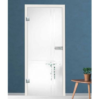 Linea Grooved Glass Door Design - Frosted Glass Internal Doors
