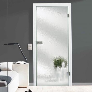 Galaxy Melted Glass Door Design - Frosted Glass Patterns