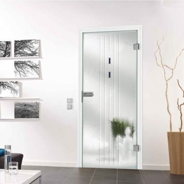 Nancy Melted Glass Door Design - Opaque Glass Doors