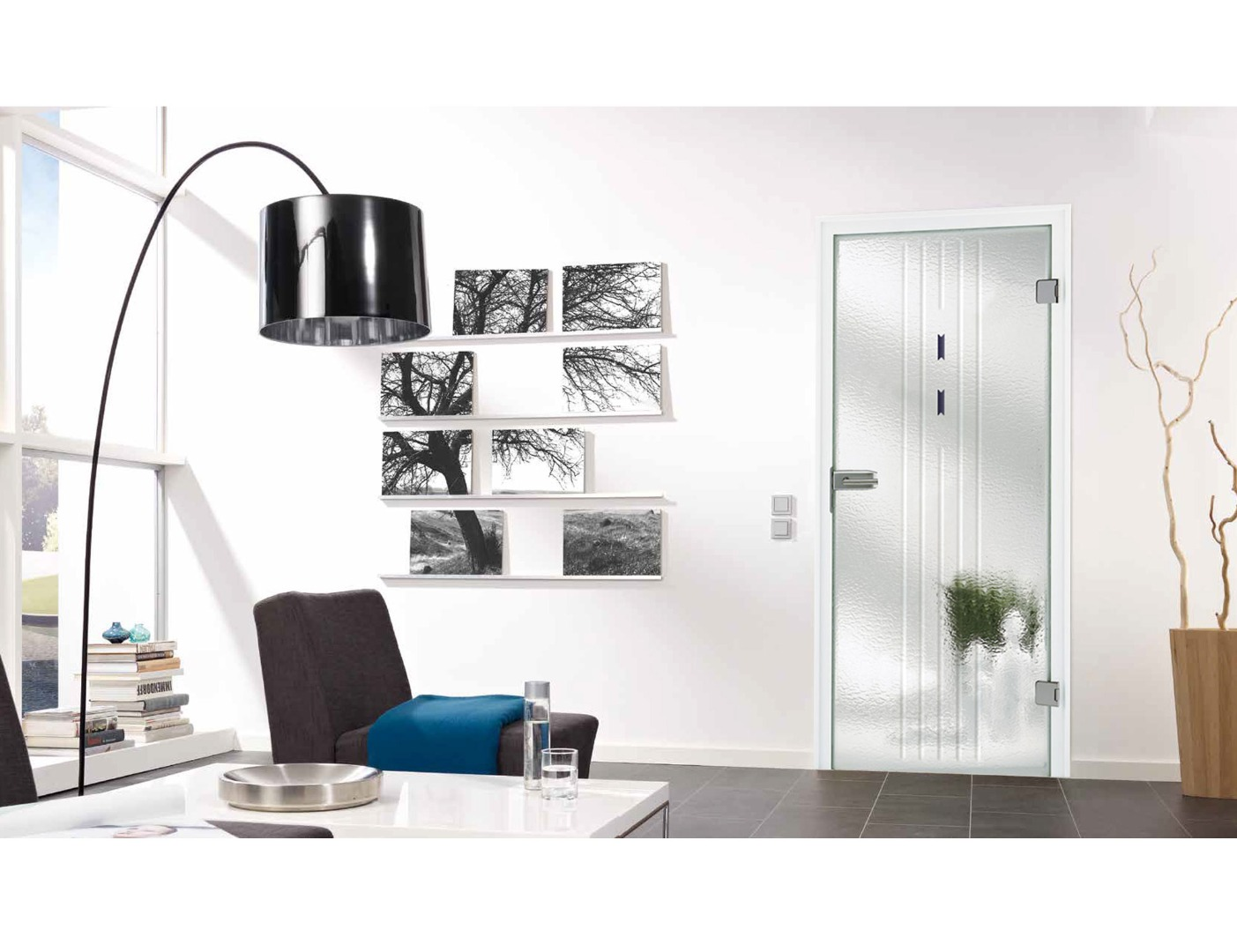 Opaque Glass Doors