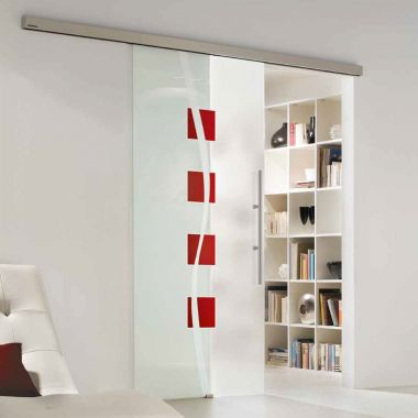 Nivada Painted Glass Door Design - Sliding Glass Door