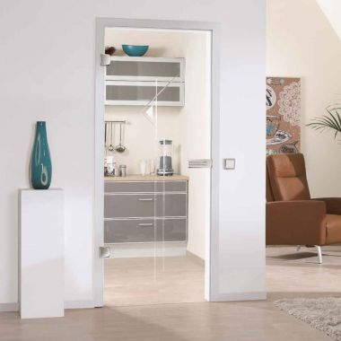 Palatino Grooved Glass Door Design - Full Glass Door