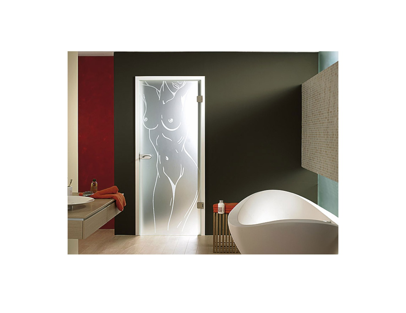 frosted ideas luxurious home glass interior with decor on bathroom door