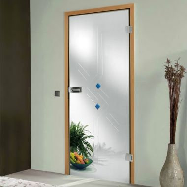 Romana Grooved Glass Door Design - Door Design with Glass