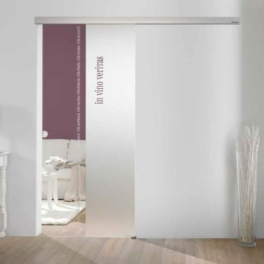 In Vino Veritas Glass Door Design